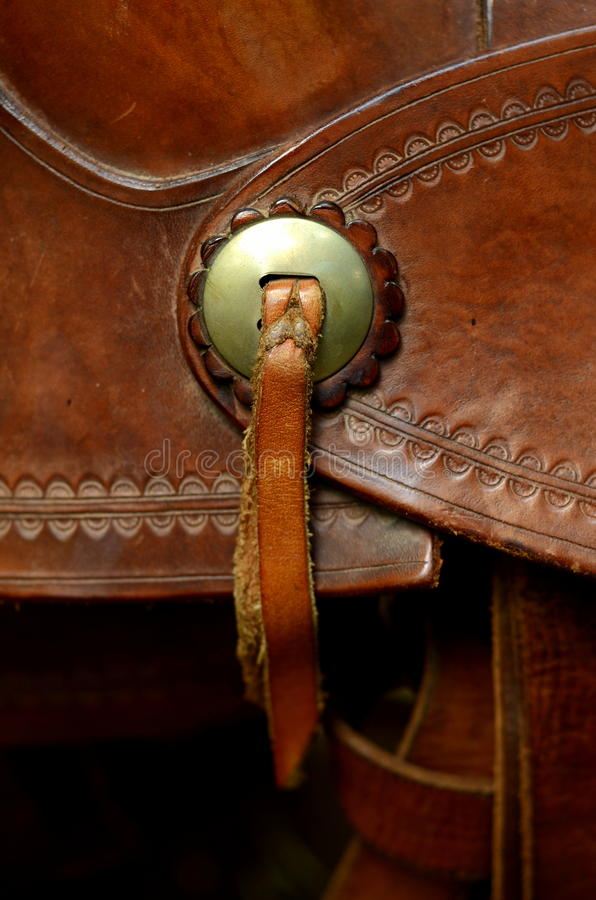 Western Saddle Detail stock photography