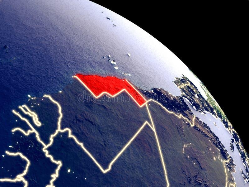 Western Sahara del espacio ilustración del vector