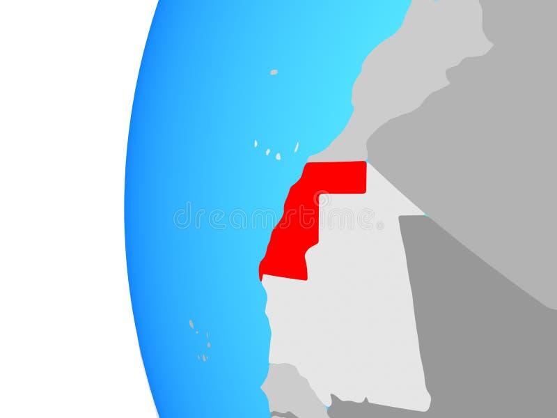 Western Sahara en el globo stock de ilustración