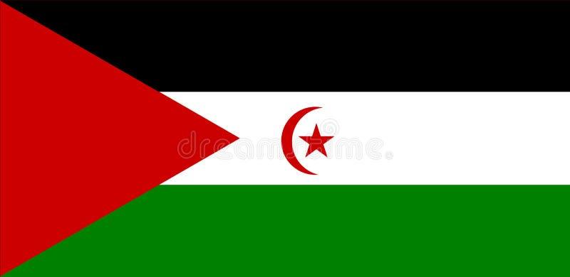 Western Sahara flag. vector illustration
