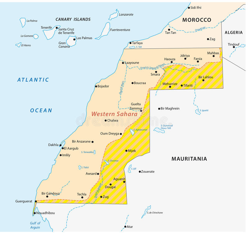 Western sahara map stock illustration Illustration of border 66283734