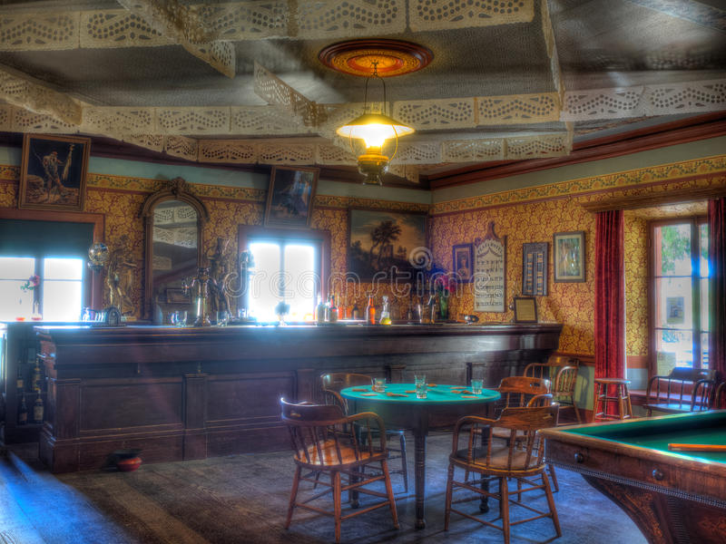 Western Saloon. Is a kind of bar particular to the Old West royalty free stock photo