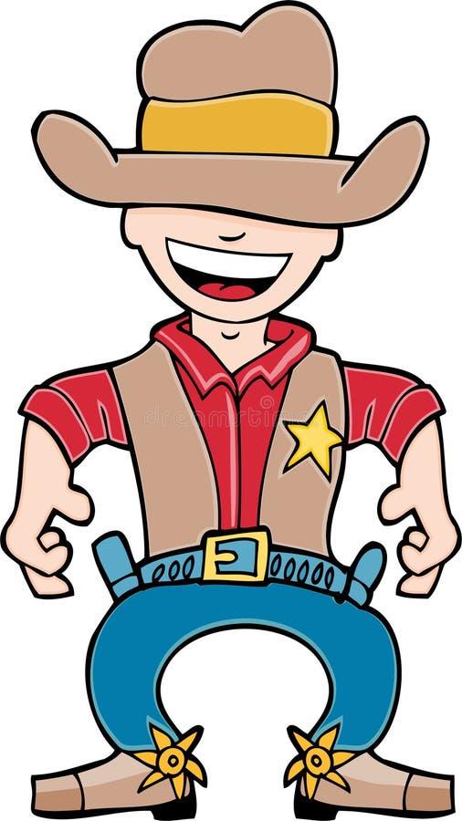 Western Sheriff. Cowboy sheriff prepares to draw his guns stock illustration