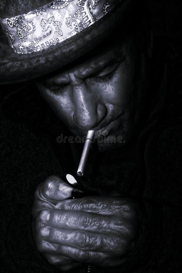 Download Western Smoke - Black And White Royalty Free Stock Photos - Image: 8448958