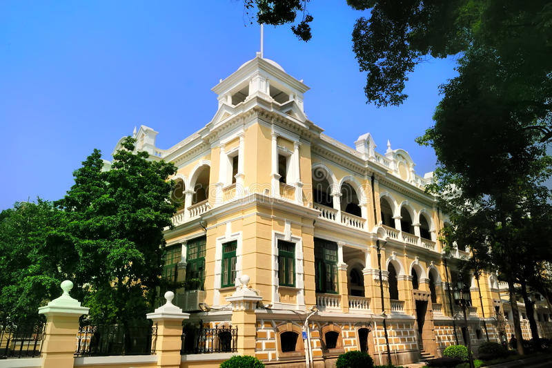 Western style building of 19th Century in Shamian royalty free stock images