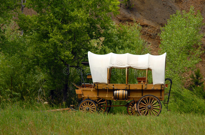 Western style wagon royalty free stock photo