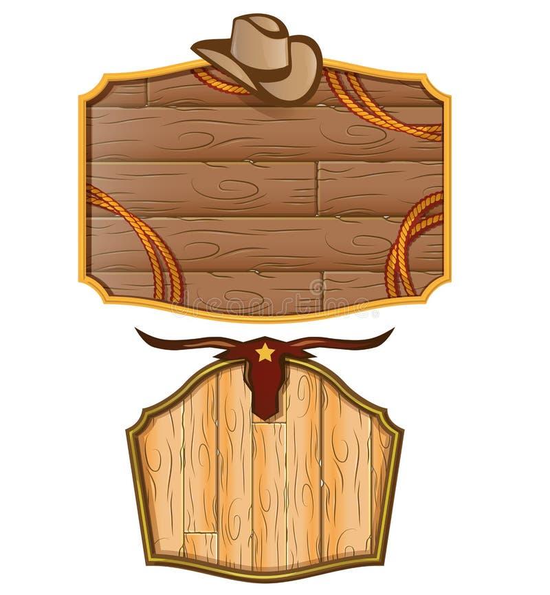 western tło ilustracja wektor