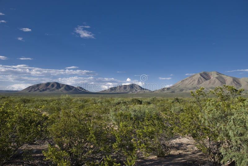 Western Texas landscape. Of mountains and desert stock photo
