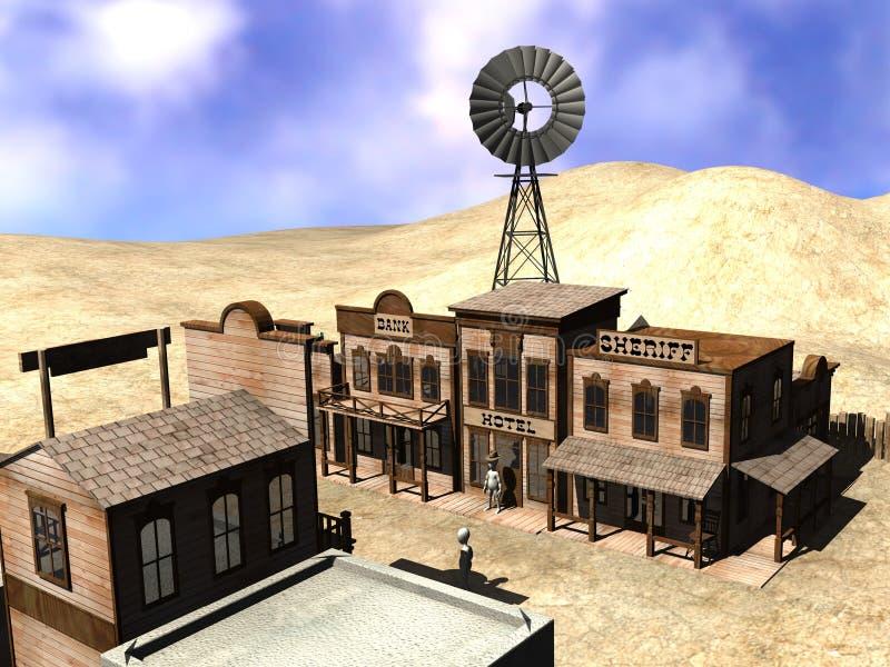 Download Western town stock illustration. Illustration of cartoon - 15003955
