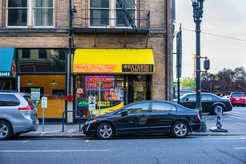 Western Union stock photography