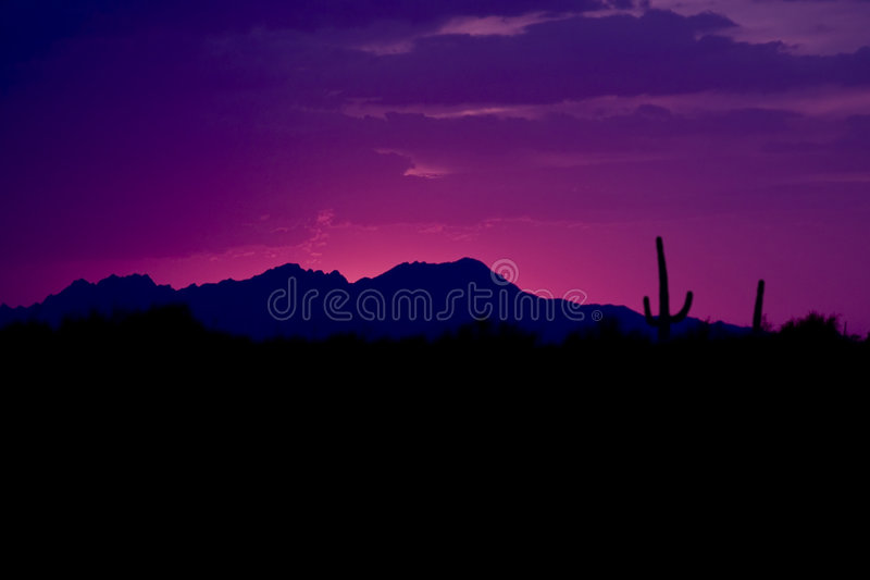 Western USA Sunset royalty free stock images