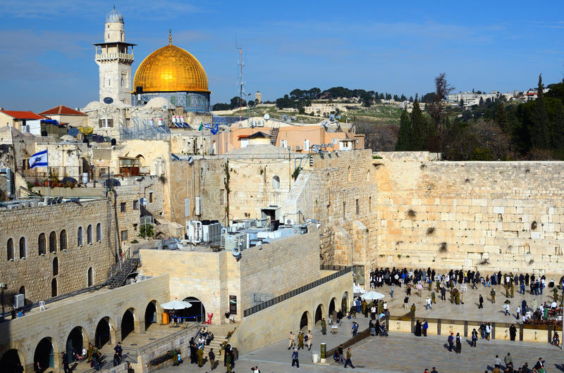 Download Western Wall And Dome Of The Rock Editorial Stock Photo - Image: 23617723
