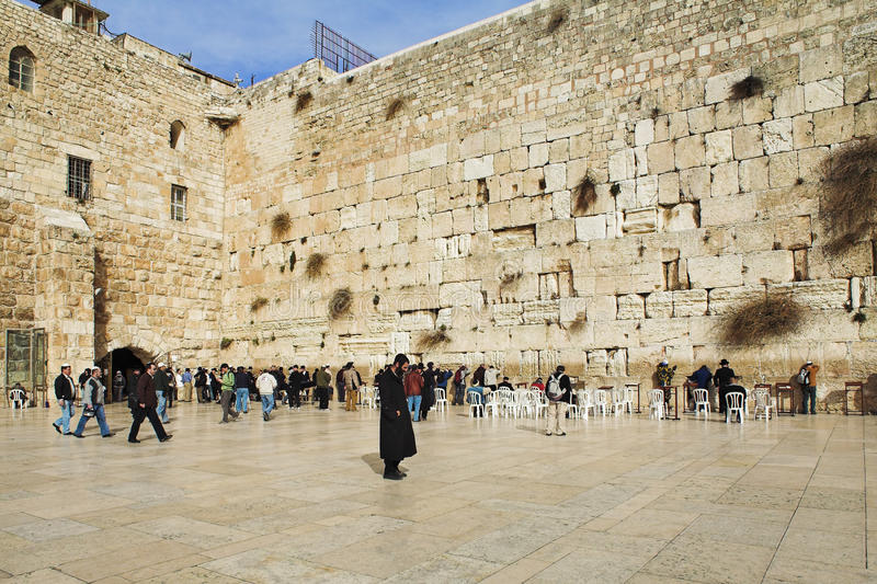Download Western Wall in Jerusalem editorial photography. Image of chair - 16798327