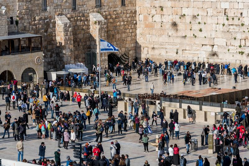 The western wall in Jerusalem royalty free stock photos
