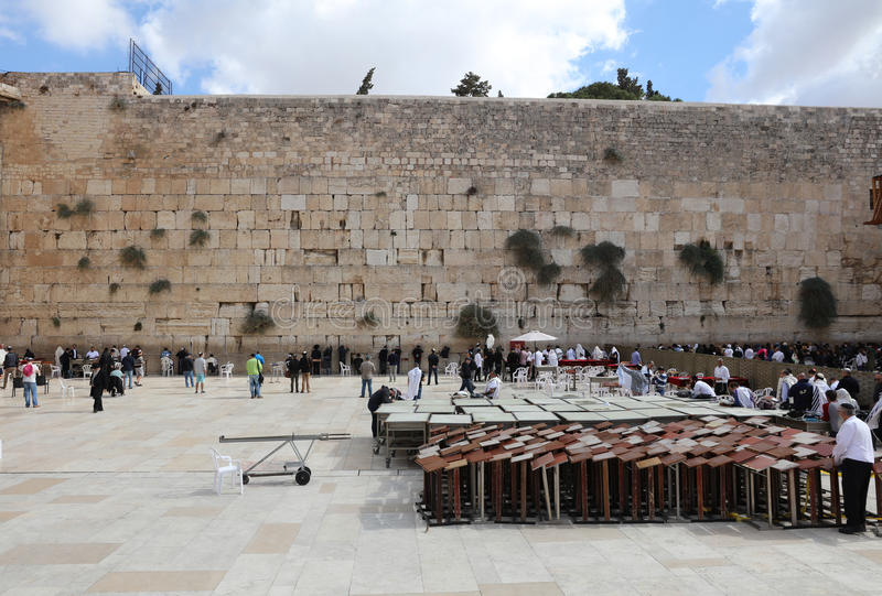 The Western Wall in Jerusalem royalty free stock photography