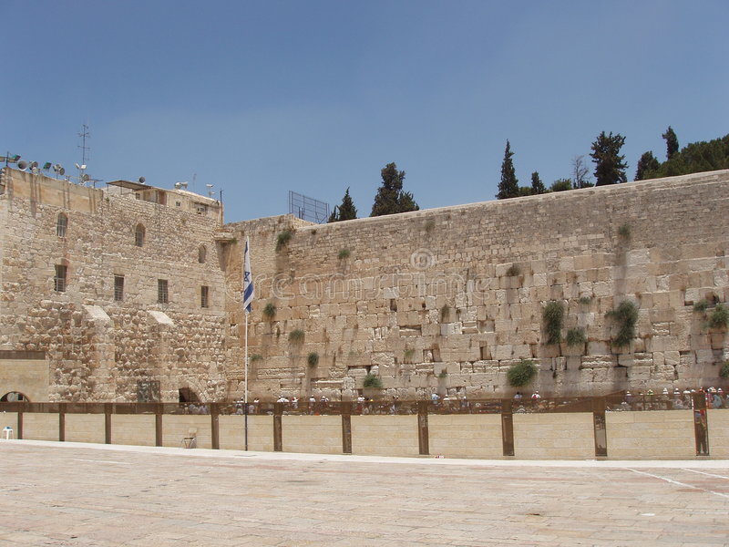 The Western Wall, Jurasalem royalty free stock photography