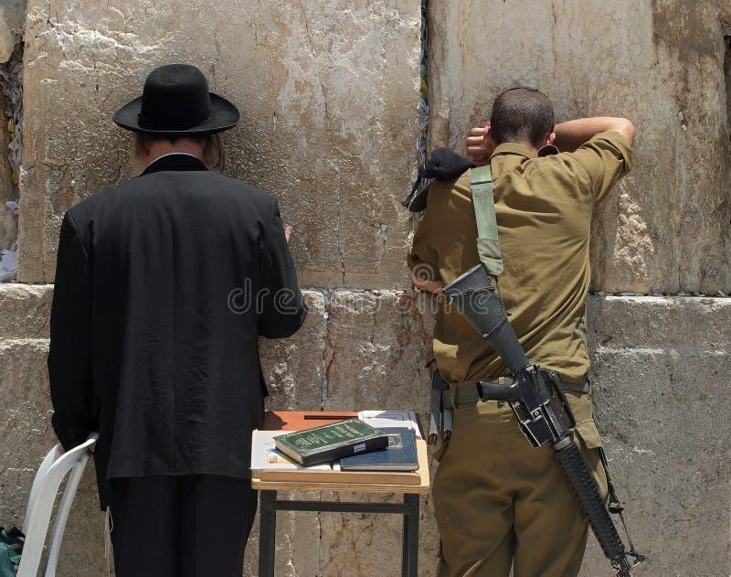 The Western Wall.Pray. stock photos