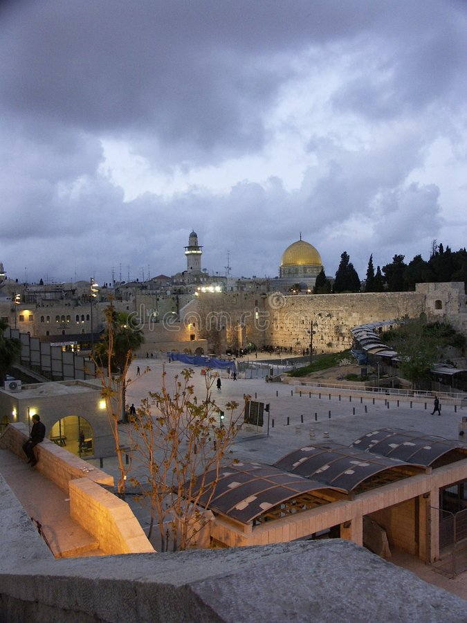 Download Western Wall And Temple Mount Stock Image - Image of colorfull, jesus: 904707