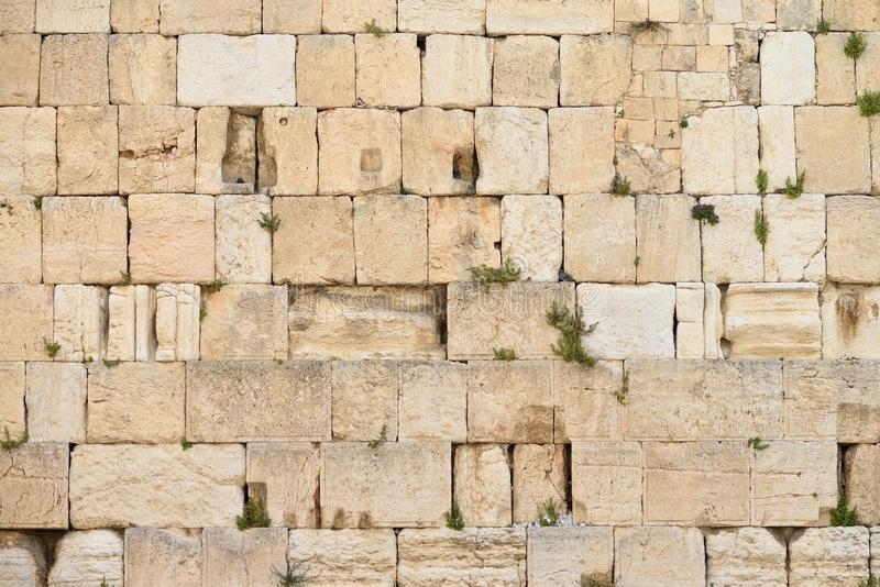 The Western wall or Wailing wall is the holiest place to Judaism in the old city of Jerusalem, Israel. The Western wall or Wailing wall is the holiest place to stock photos