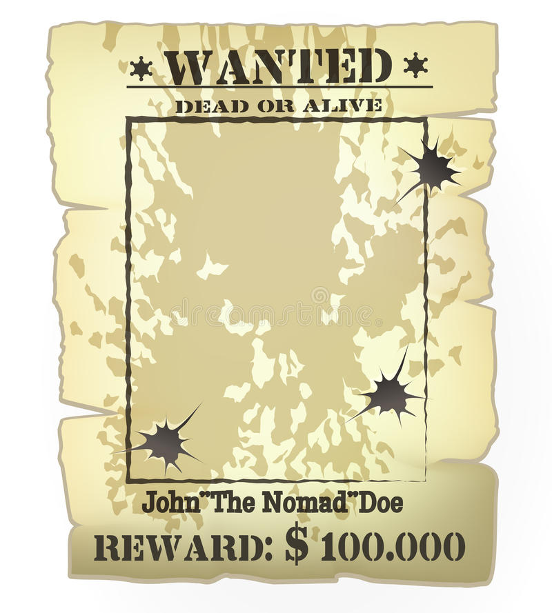 Western wanted poster stock illustration