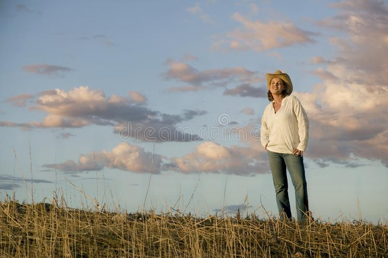 Western Woman stock photo