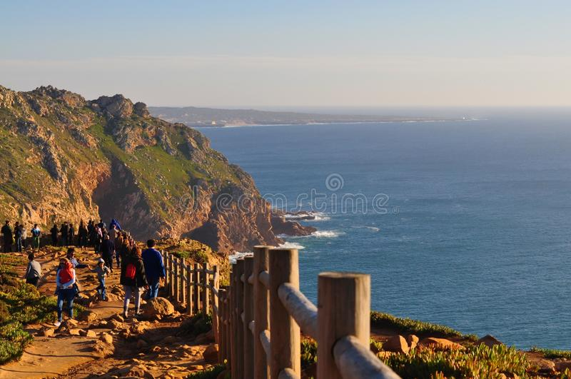 The westernmost fence - Cape Roca royalty free stock image