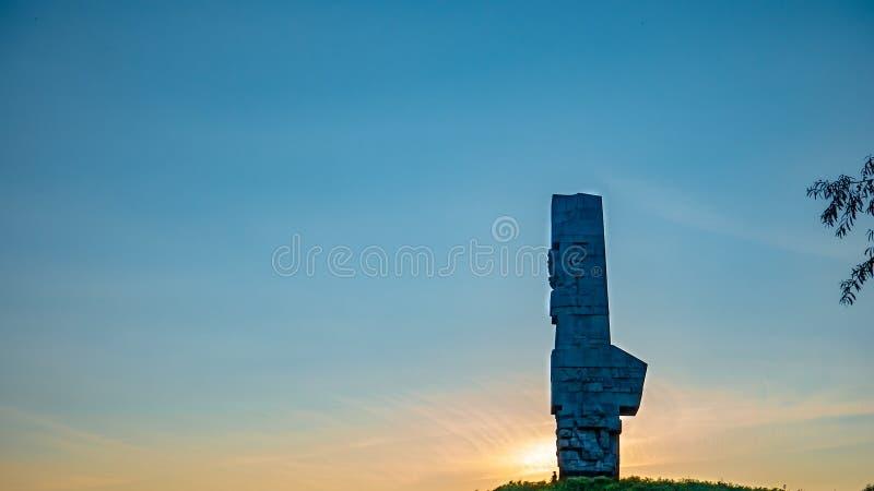 Westerplatte纪念碑在格但斯克 免版税库存图片