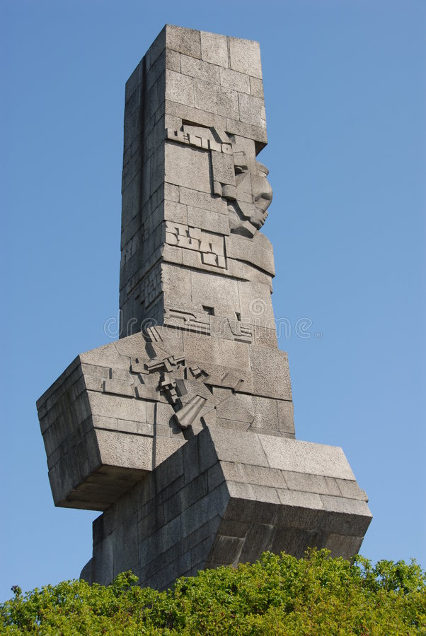 Westerplatte monument royalty free stock images