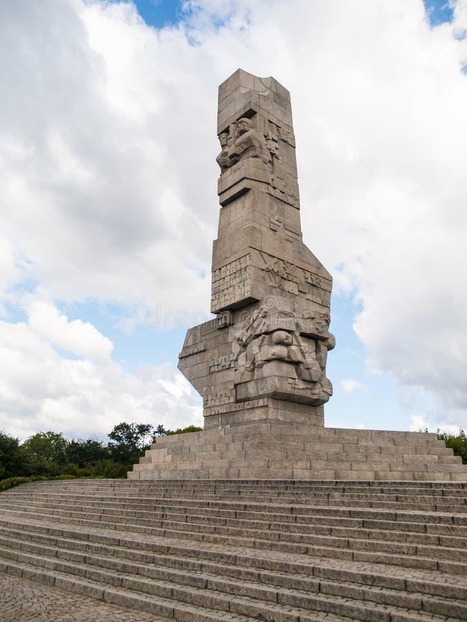 Westerplatte-Monument lizenzfreies stockbild