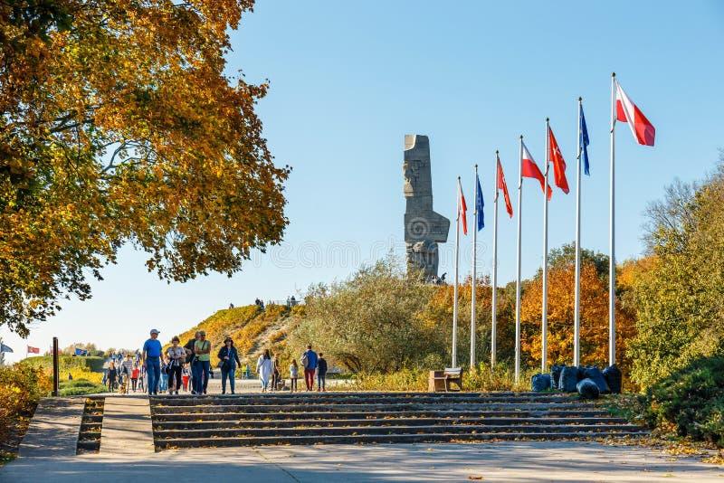 Westerplatte-Monument zum Gedenken an die polnischen Verteidiger Der Kampf von Westerplatte war ein von stockbilder
