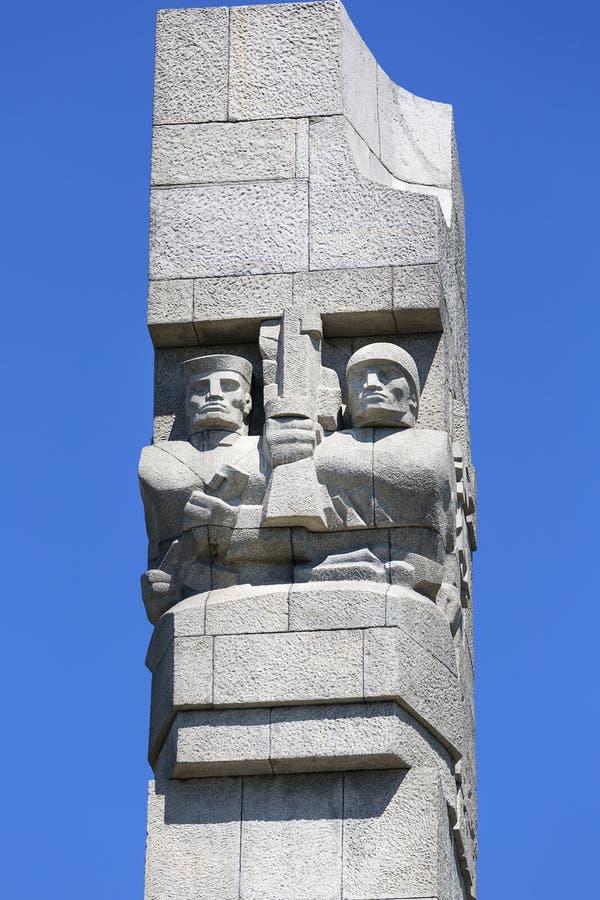 Westerplatte-Monument zum Gedenken an die polnischen Verteidiger, Gdansk, Westerplatte, Polen lizenzfreies stockbild