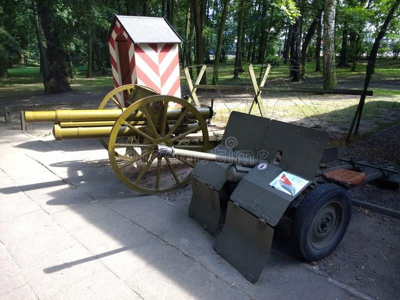 Westerplatte ställe av att börja krig för värld 2 i Polen royaltyfri bild