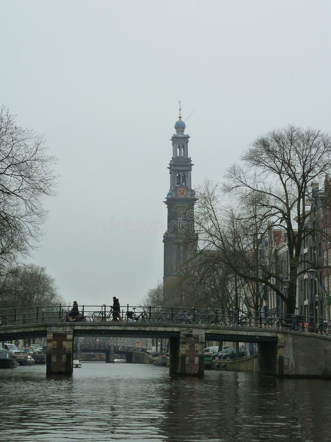Westertoren Amsterdam fotografia stock