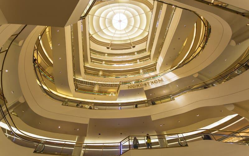 Westfield centrum handlowe, San Francisco, Kalifornia, Stany Zjednoczone Ameryka, Północna Ameryka fotografia stock