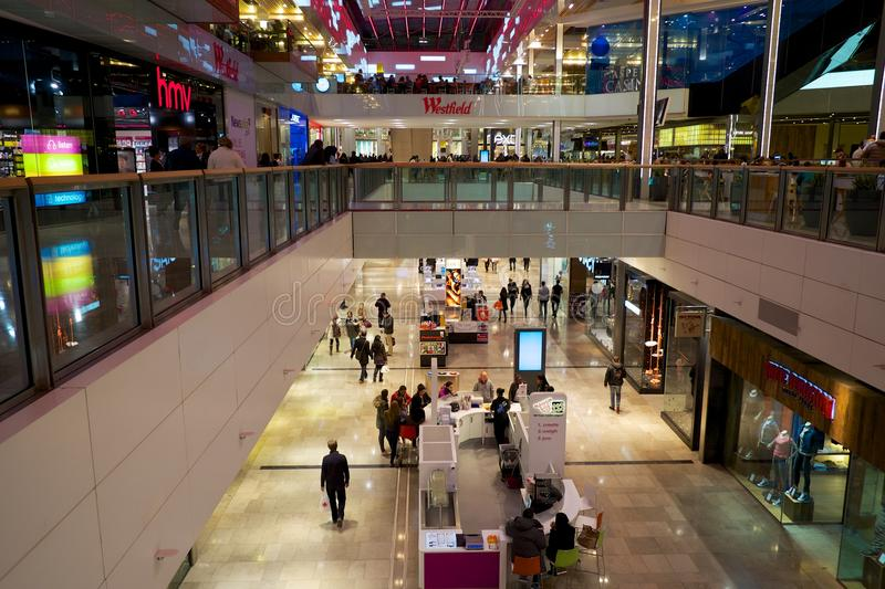 Westfield shopping mall stock photography