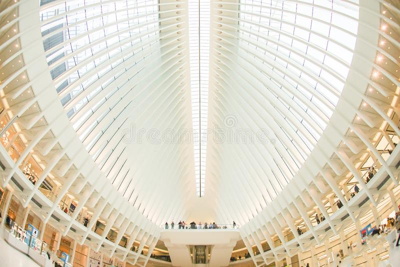 Westfield World Trade Center Westfield World Trade Center. Shooting location :  Manhattan, New York stock images