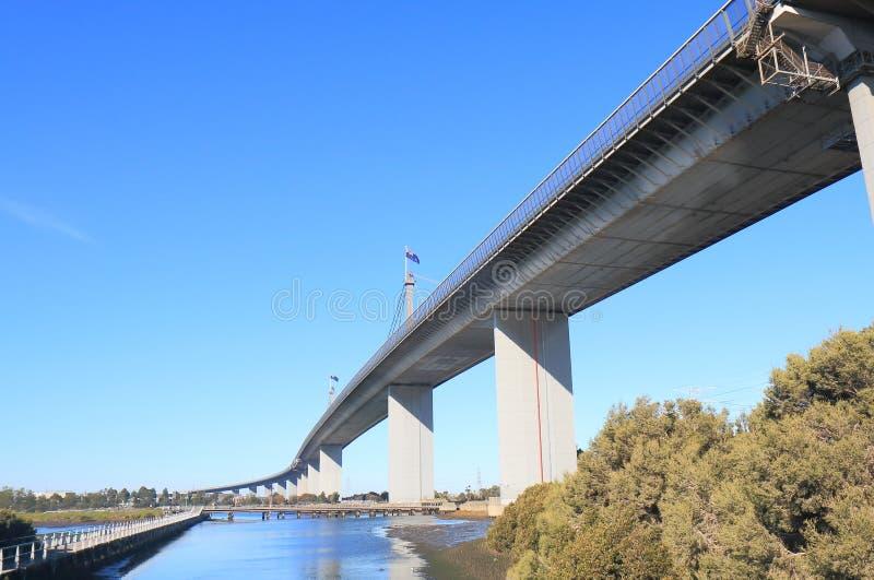 Westgate bro Melbourne Australien royaltyfri foto