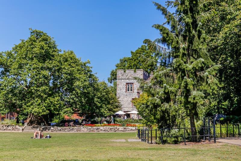 Westgate-Gärten in Canterbury lizenzfreie stockfotos