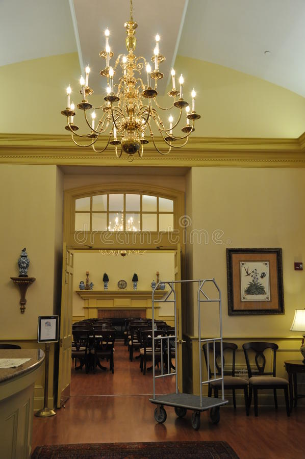 Westgate Historische Williamsburg in Virginia royalty-vrije stock afbeelding