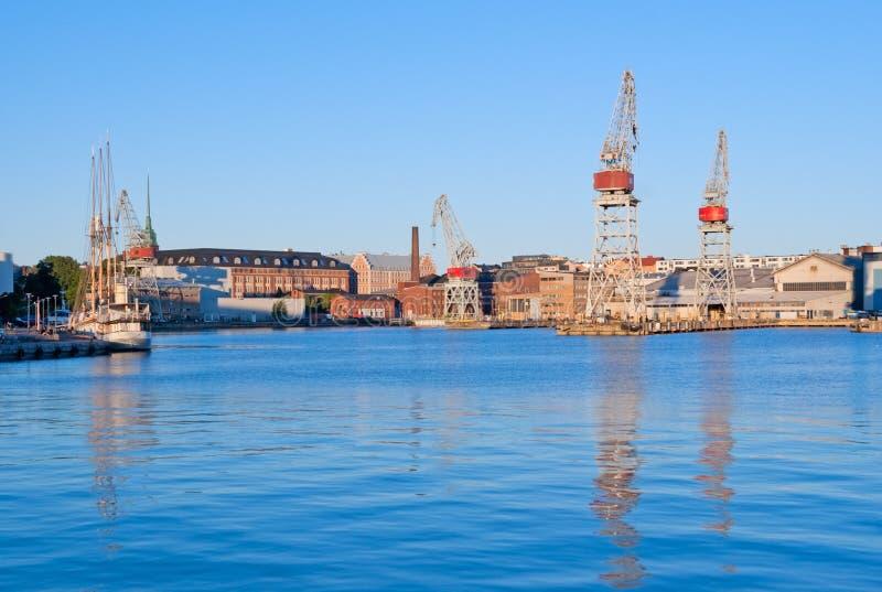 Westhafen von Helsinki lizenzfreie stockfotografie