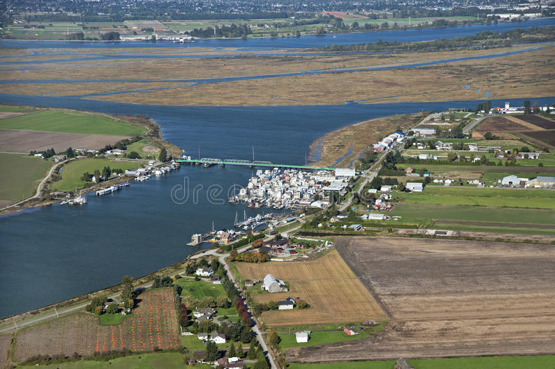 Westham Island and Fraser River royalty free stock photography
