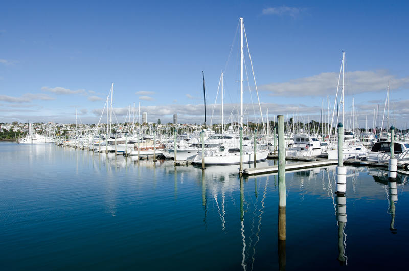 Westhaven Marina - Auckland zdjęcie royalty free