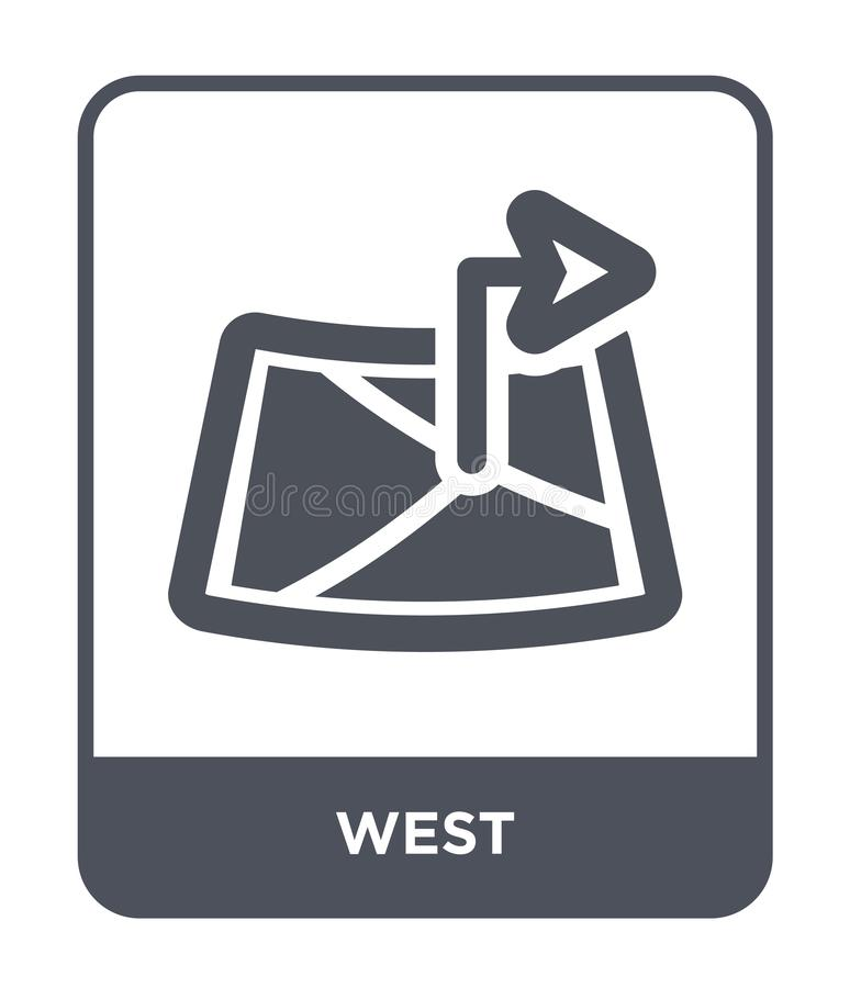 Westikone in der modischen Entwurfsart Westikone lokalisiert auf weißem Hintergrund einfaches und modernes flaches Symbol der Wes lizenzfreie abbildung
