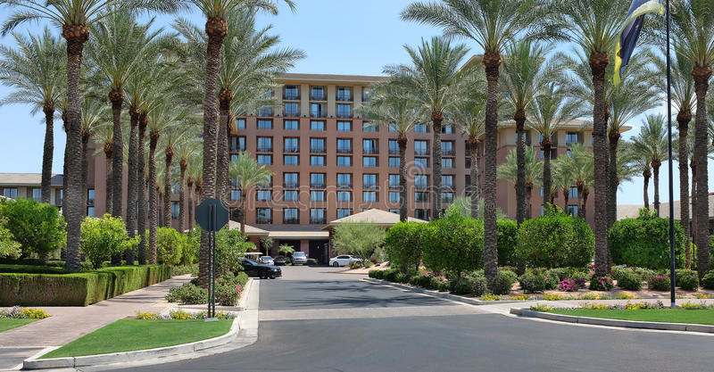 The Westin Keirland Resort and Spa. SCOTTSDALE, ARIZONA - JUNE 11, 2016: The Westin Kierland Resort and Spa main entrance. The luxury resort is located in stock images