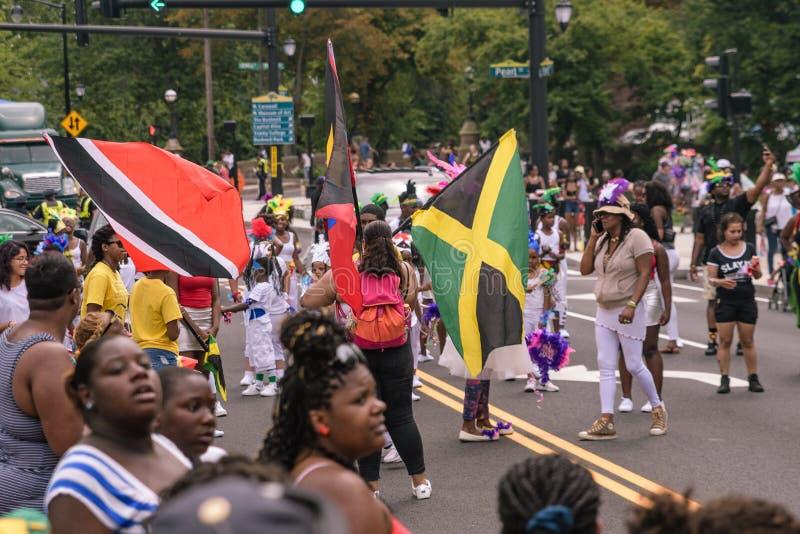 Westindische Parade Hartford Connecticut stockbild