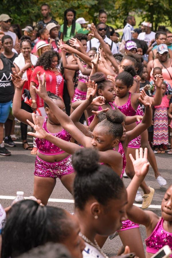 Westindische Parade Hartford Connecticut lizenzfreie stockbilder
