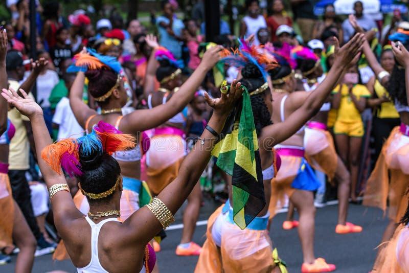 Westindische Parade Hartford Connecticut stockfoto