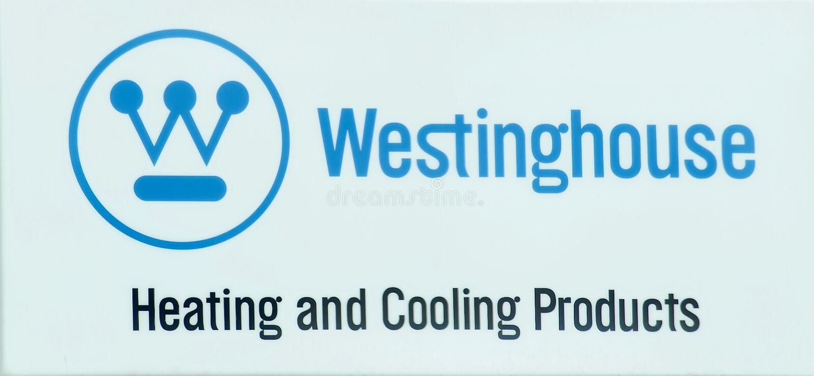 Westinghouse Heating and Cooling Products royalty free stock photography