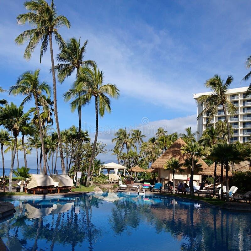 Westintoevlucht Maui royalty-vrije stock foto