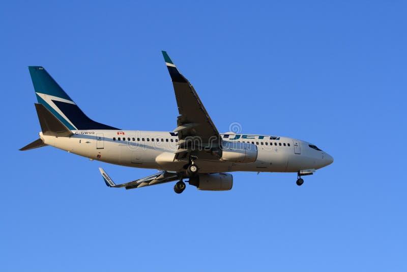 WestJet Boeing 737-700 στοκ φωτογραφία